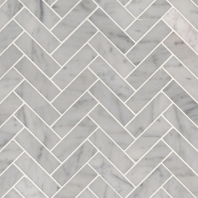 MSI Carrara White 1x3 Herringbone Tile