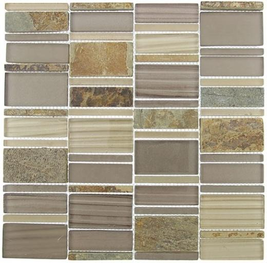 Tile Corrugated Olivine Shell CSS-125