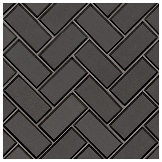 Msi Metallic Gray Beveled Herringbone Tile
