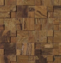 Bedrosians Acadia Brown Brushed Metal Mosaic Tile