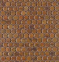 Bedrosians Acadia Brown Brushed Metal Mosaic Tile