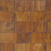 Bedrosians Acadia Penny Round Brushed Metal Mosaic Tile