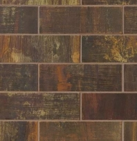 Bedrosians Acadia Brown Brushed Metal Subway Tile