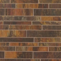 Bedrosians Acadia Interlocking Brushed Metal Mosaic Tile