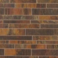 Bedrosians Acadia Interlocking Brushed Metal Mosaic Tile