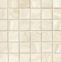 Bedrosians Acadia Porcelain White Polished Mosaic Tile
