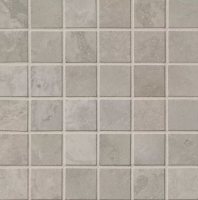 Bedrosians Calacatta Porcelain Grey Polished Mosaic Tile