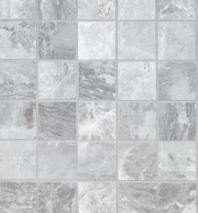Bedrosians Classic Porcelain Grey Matte Mosaic Tile