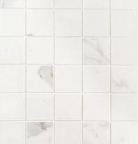 Bedrosians Classic Porcelain White Matte Mosaic Tile