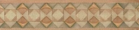 Bedrosians Cotto Nature Porcelain Brown Hand Painted Trim