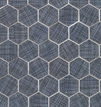 Bedrosians Dagny Hexagon Blue Porcelain Mosaic Tile