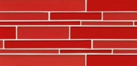 Bedrosians Hamptons Red Linear Interlocking Glass Mosaic Tile