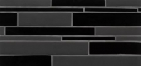 Bedrosians Hamptons Black Linear Interlocking Glass Mosaic