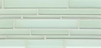 Bedrosians Hamptons Mint Linear Interlocking Glass Mosaic Tile