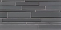 Bedrosians Hamptons Gray Linear Interlocking Glass Mosaic Tile