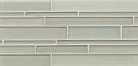 Bedrosians Hamptons Linear Interlocking Glass Mosaic Tile