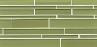 Bedrosians Hamptons Linear Interlocking Glass Mosaic Tile