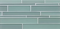 Bedrosians Hamptons Linear Interlocking Blue Glass Tile