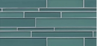 Bedrosians Hamptons Wave Linear Interlocking Glass Tile