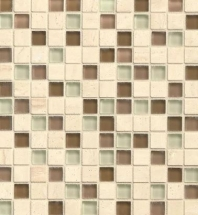 Bedrosians Interlude Glass and Stone Brown 3/4 x 3/4 Mosaic Tile