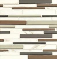 Bedrosians Interlude Glass and Stone White Mosaic Tile- GLSILDENCRIB