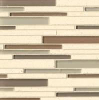 Bedrosians Interlude Glass and Stone White Mosaic Tile GLSILDMAERIB