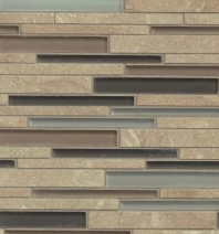 Bedrosians Interlude Glass and Stone Brown 12x12 Mosaic Tile