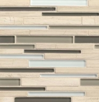 Bedrosians Interlude Glass and Stone Beige 12x12 Mosaic Tile