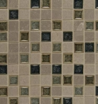 Bedrosians DECKISFAT11B Kismet Stone Crackle Glazed 12x12 Mosaic Tile
