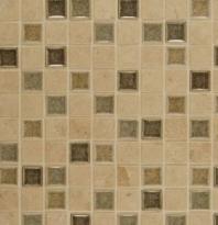 Bedrosians DECKISGLE11B- Kismet Stone Crackle Glazed 12x12 Mosaic Tile