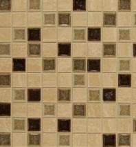 Bedrosians DECKISHAP11B- Kismet Stone Crackle Glazed 12x12 Mosaic Tile