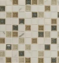 Bedrosians DECKISHEA11B Kismet Stone Crackle Glazed 12x12 Mosaic Tile
