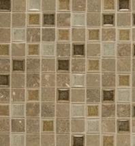 Bedrosians DECKISJOY11B Kismet Stone Crackle Glazed 12x12 Mosaic Tile