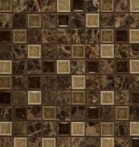 Bedrosians DECKISKAR11B- Kismet Stone Crackle Glazed 12x12 Mosaic Tile
