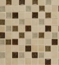 Bedrosians DECKISPAR11B- Kismet Stone Crackle Glazed 12x12 Mosaic Tile