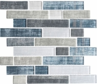 Textile Series Blue Denim Interlocking Mosaic TXT6411
