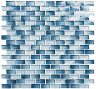 Metro Series Antoinette Blue Stacked Mosaic MTR3341