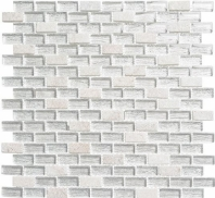 Metro Series Chloe White and Stone Stacked Mosaic MTR3344