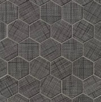 Lido Black Hexagon Tile TCRLID221HEXB