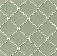 Mallorca Glass Fern Arabesque Tile GLSMALFERARA