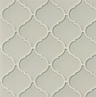 Mallorca Glass Mist Arabesque Tile GLSMALMISARA