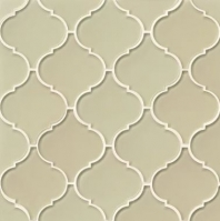 Mallorca Glass Sand Arabesque Tile GLSMALSANARA