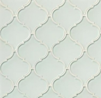 Mallorca Glass White Linen Arabesque Tile GLSMALWHLARA