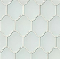 Mallorca Glass White Linen Arabesque Tile GLSMALWHLPAL
