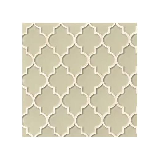 Bedrosians Mallorca Glass Sand Arabesque Tile