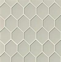 Mallorca Glass Mist Hexagon Tile GLSMALMISART
