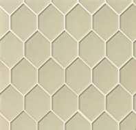 Mallorca Glass Sand Hexagon Tile GLSMALSANART