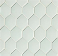 Mallorca Glass White Linen Hexagon Tile GLSMALWHLART