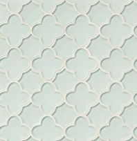 Mallorca Glass White Linen Hexagon Tile GLSMALWHLFLO