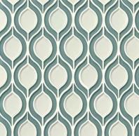 Mallorca Glass Sail / White Linen Leaf Tile GLSMALSAIWHLTOR
